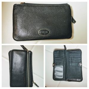 Fossil wallet, black leather, awesome price